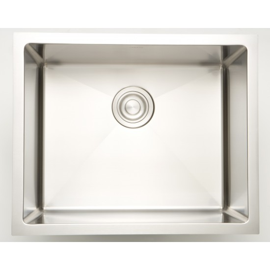 16-in. W CSA Approved Stainless Steel Kitchen Sink With Stainless Steel Finish And 18 Gauge