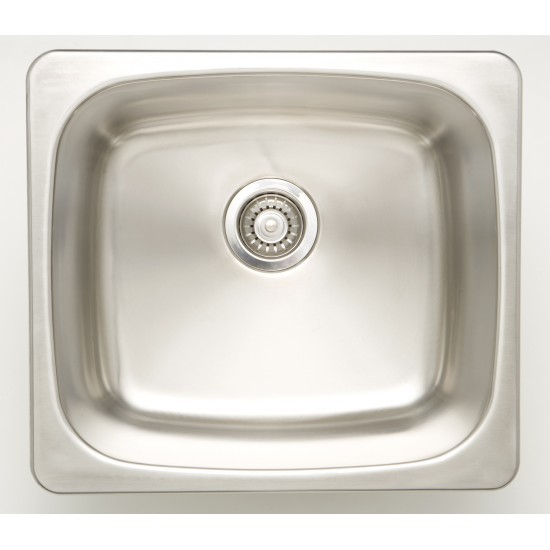 20-in. W CSA Approved Stainless Steel Kitchen Sink With Stainless Steel Finish And 18 Gauge