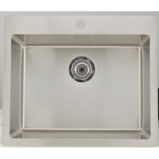 27.75-in. W CSA Approved Stainless Steel Kitchen Sink With Stainless Steel Finish And 18 Gauge