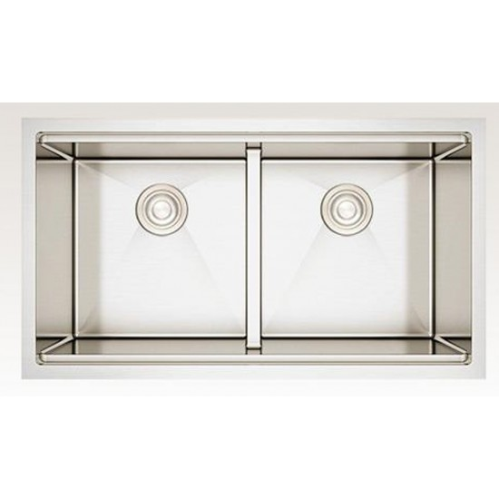 32-in. W CSA Approved Stainless Steel Kitchen Sink With Stainless Steel Finish And 16 Gauge