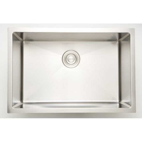 25-in. W CSA Approved Chrome Laundry Sink With Stainless Steel Finish And 16 Gauge