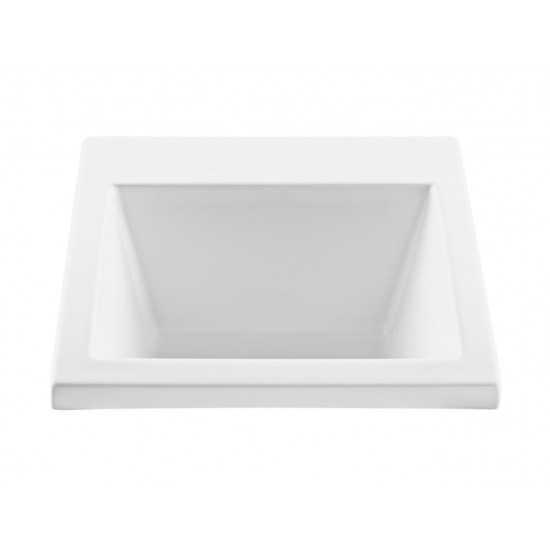 Versatile Laundry Sink Drop In, White 22 x 25