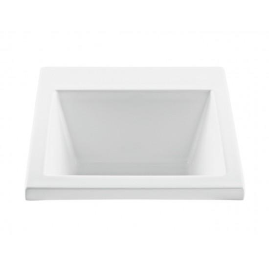 Versatile Laundry Sink Undermount, White 22 x 25