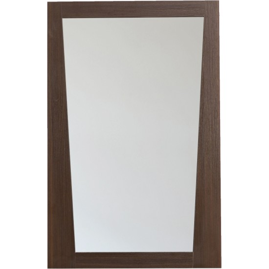 21.5-in. W 33.5-in. H Modern Plywood-Melamine Wood Mirror In Wenge