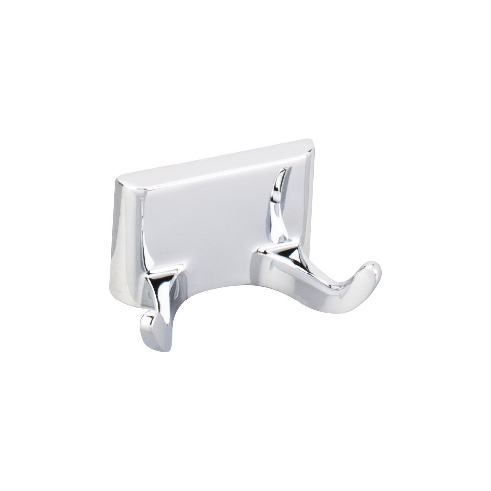 Elements Traditional Robe Hook. Finish: Polished Chrome. Packed in White Box.