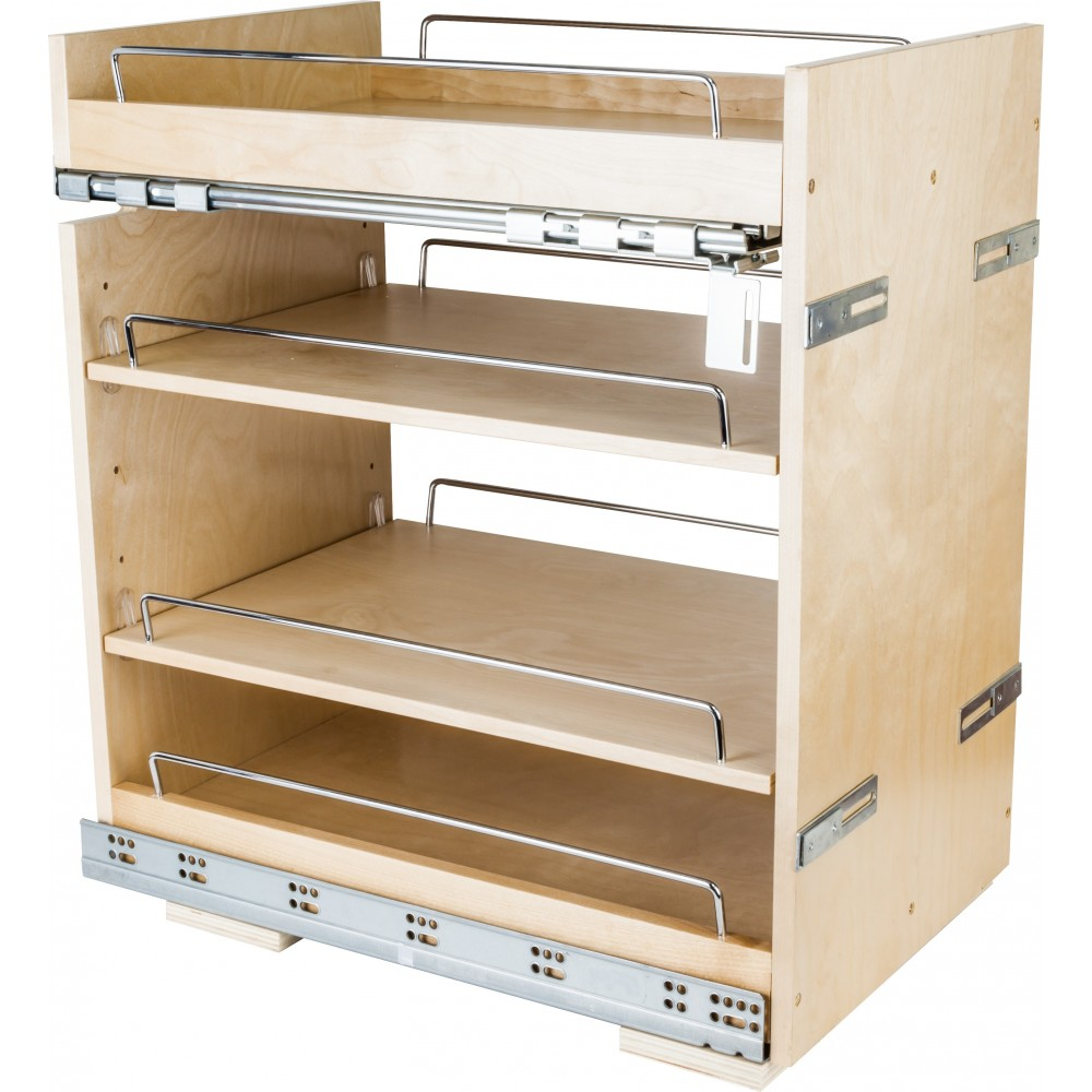 """No Wiggle  14"""" Base Cabinet Pullout with Premium Soft-close Concealed Undermount Slides"""