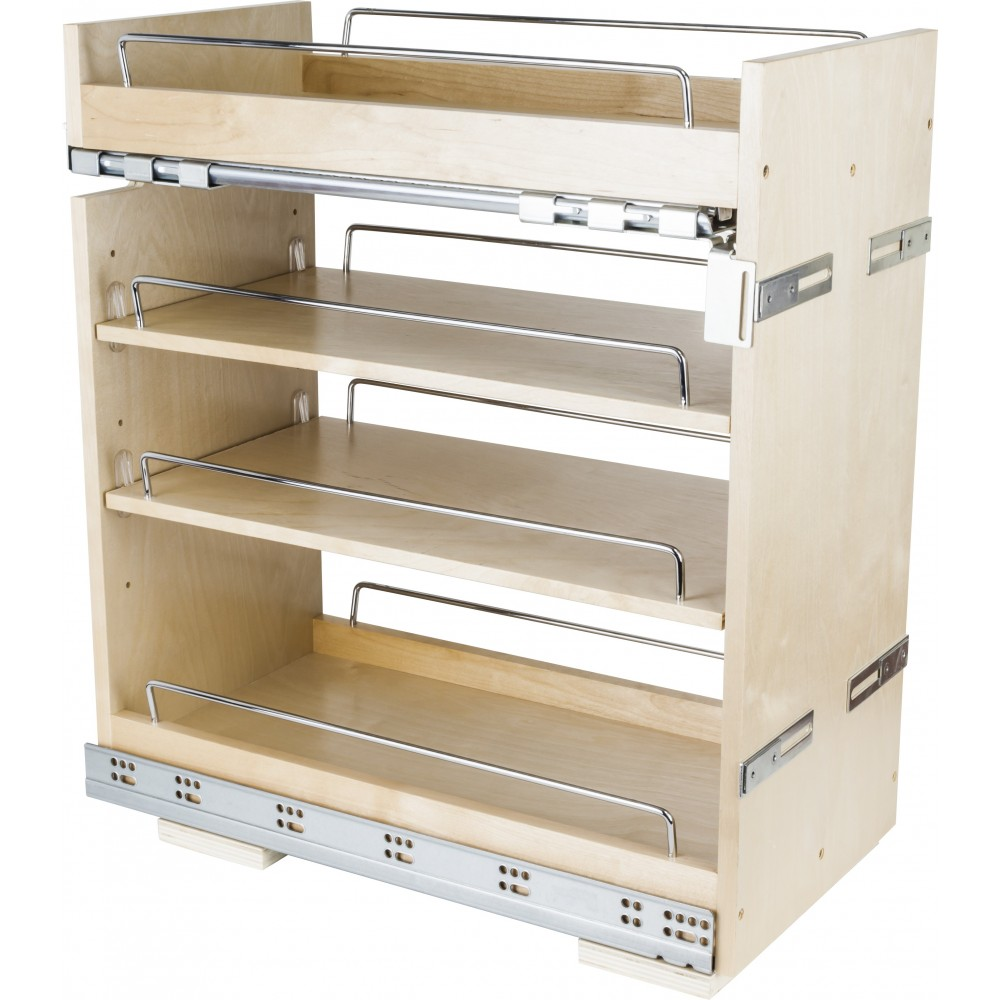 """No Wiggle  11"""" Base Cabinet Pullout with Premium Soft-close Concealed Undermount Slides"""
