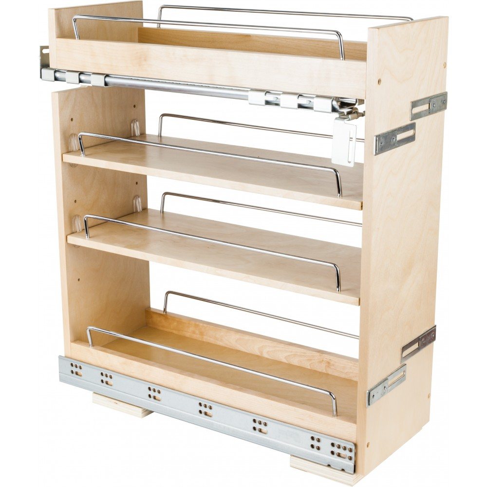 """No Wiggle  8"""" Base Cabinet Pullout with Premium Soft-close Concealed Undermount Slides"""