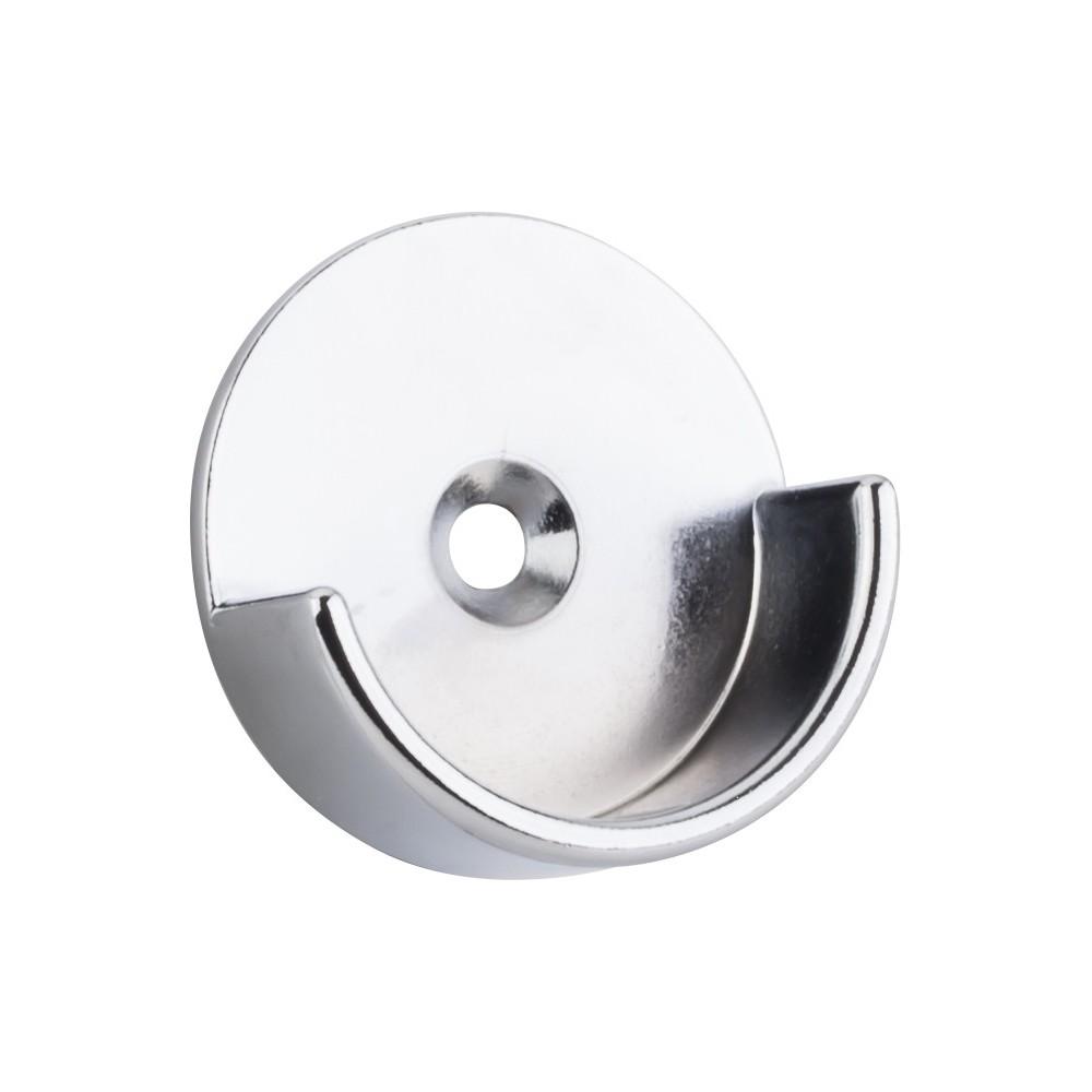 "Chrome Open Closet Bracket for 1-5/16"" Round Closet Rod with 5 mm Posts"