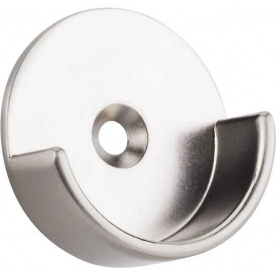 "Satin Nickel Open Closet Bracket for Round  1-5/16"" Closet Rod with 5 mm Posts"