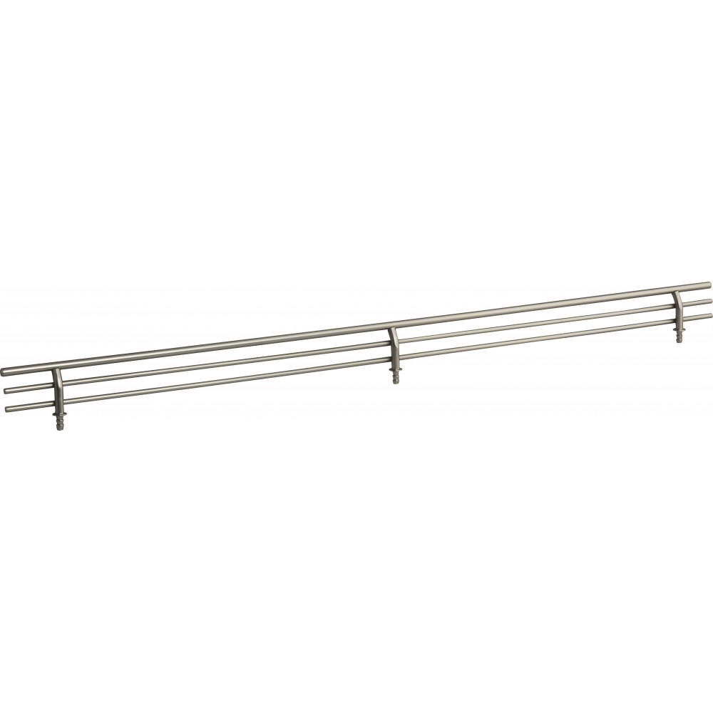 """Satin Nickel 23"""" Shoe Fence for Shelving"""