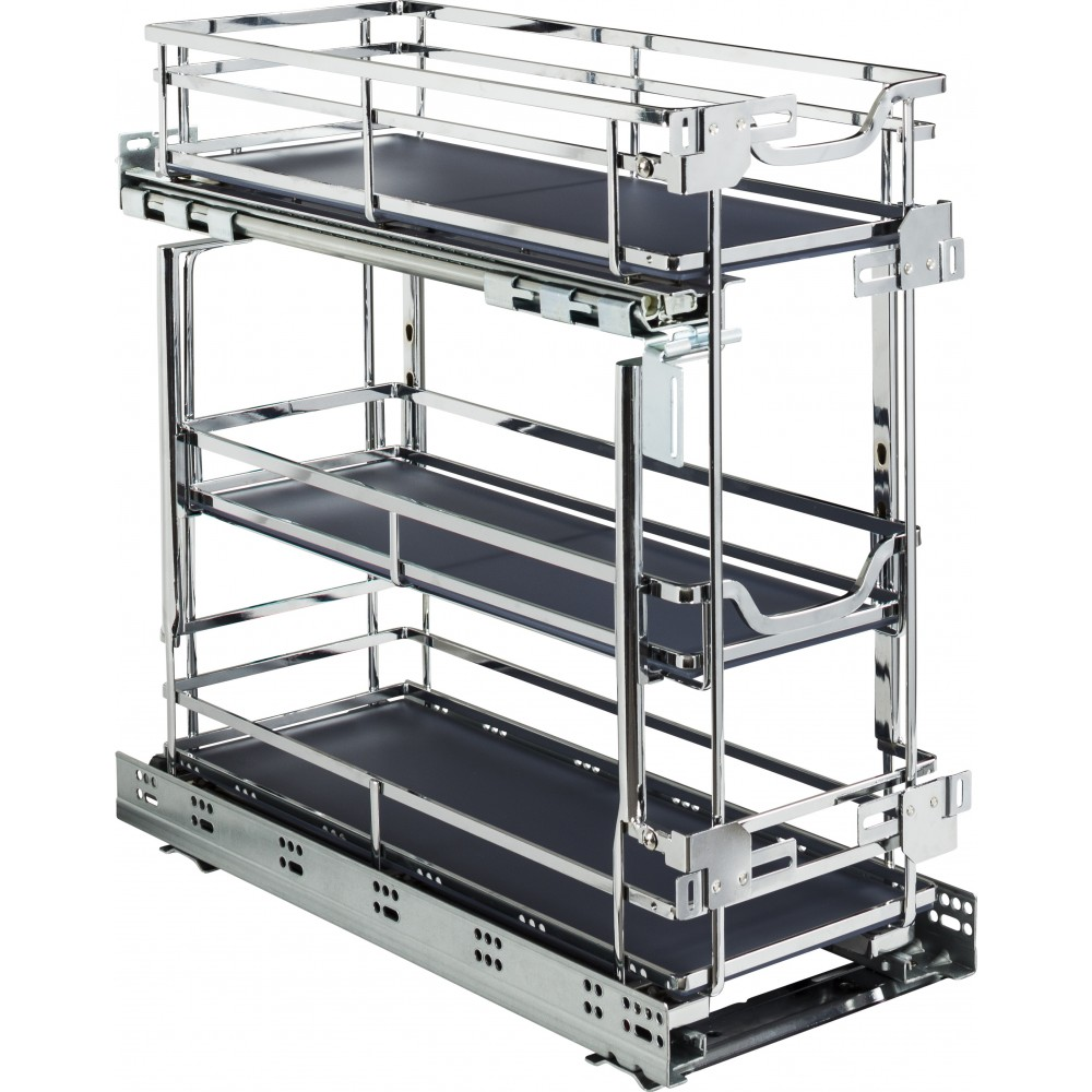 """STORAGE WITH STYLE ® 8"""" Wire Drawer Base Pullout Polished Chrome Finish"""