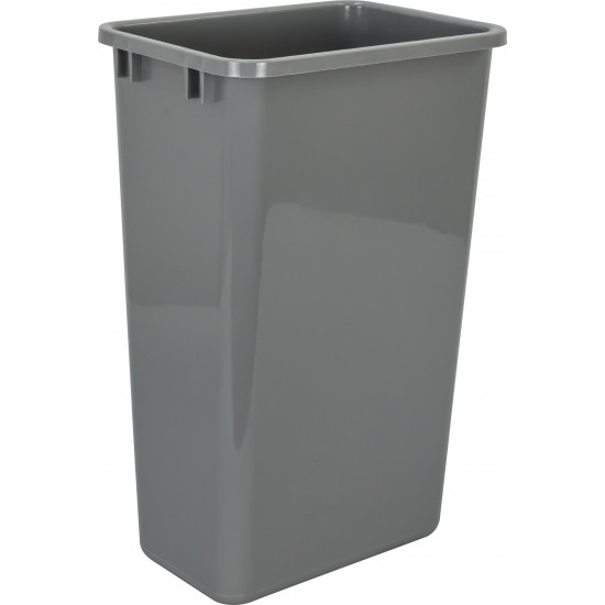 """Kit including Top Mount Soft-close Single Trash Can Unit - for 15"""" Opening with Gray 50 QT Trashcan"""
