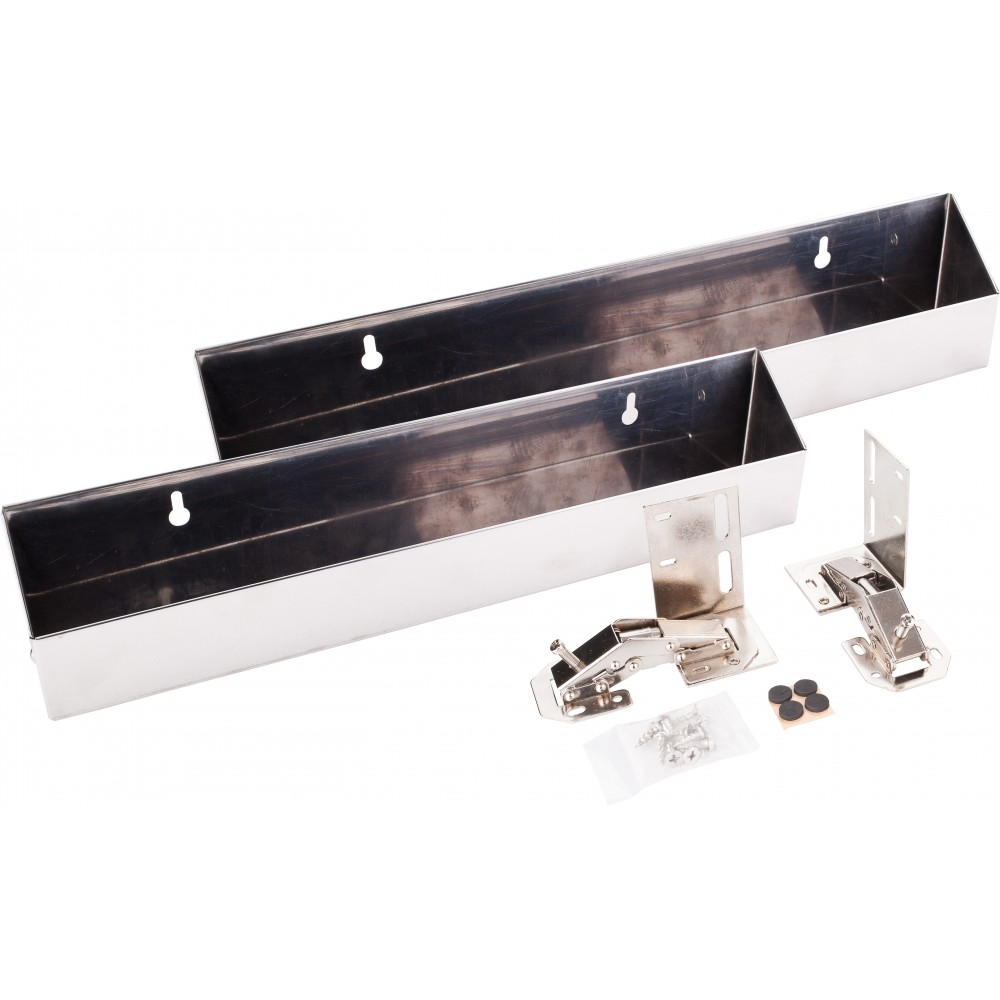 """14-13/16"""" Stainless Tipout 2 Tray Set"""