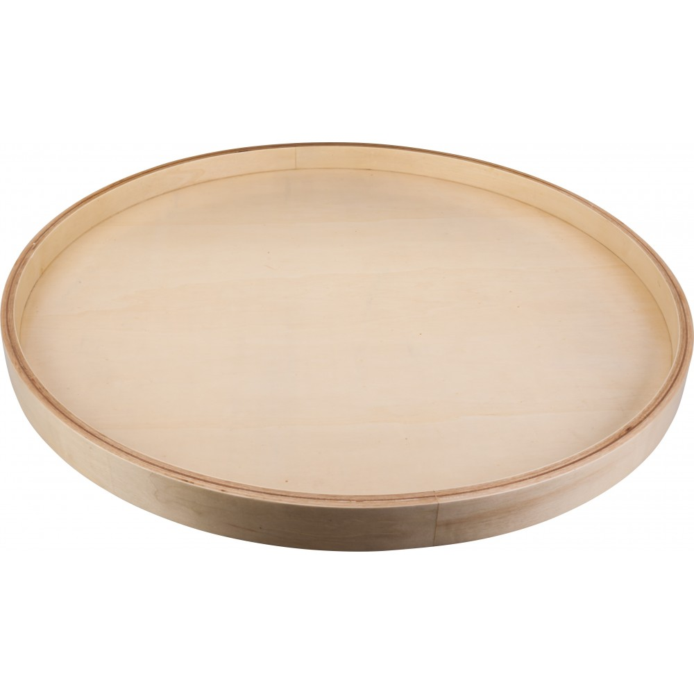 """18"""" Round Banded Lazy Susan with Swivel Preinstalled"""