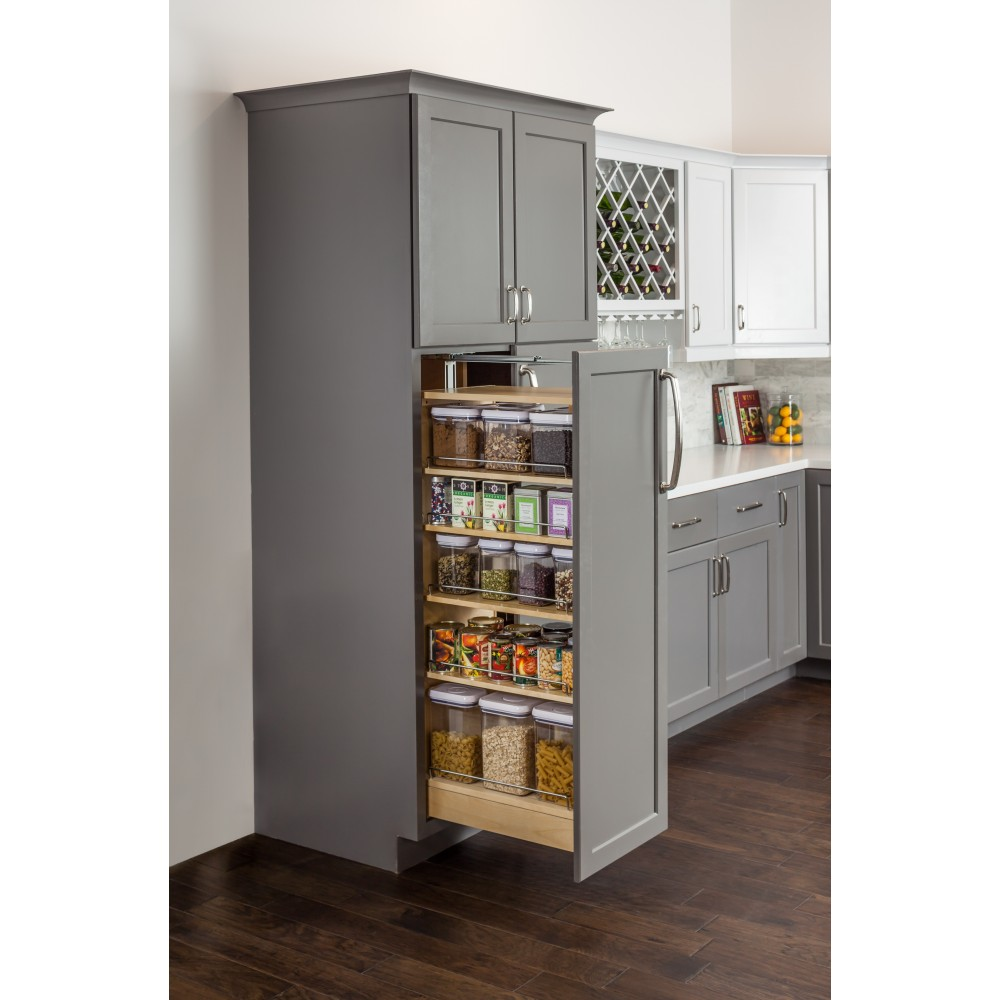 """Wood Pantry Cabinet Pullout 5-1/2"""" x 22-1/4"""" x 53"""""""