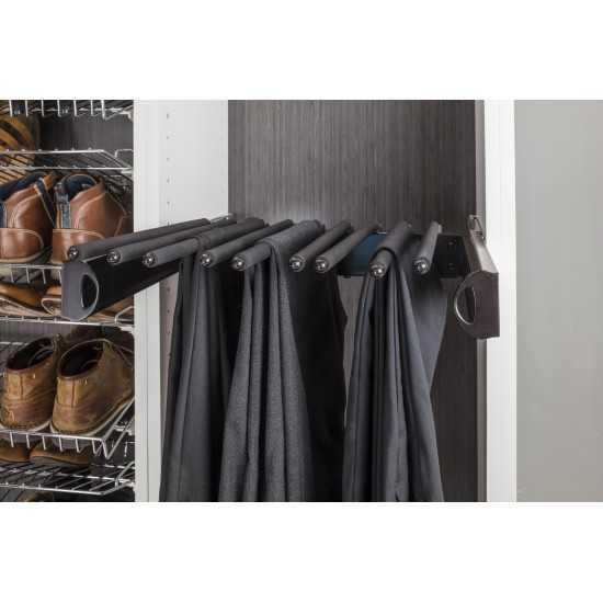 """Satin Nickel 24'' Pant Rack for 14"""" Deep Closet System"""