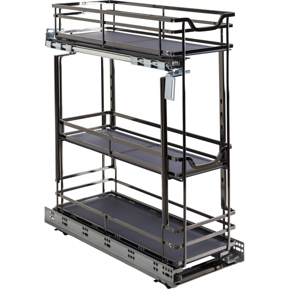 """STORAGE WITH STYLE ® 8"""" Wire Base Pullout Black Nickel Finish"""