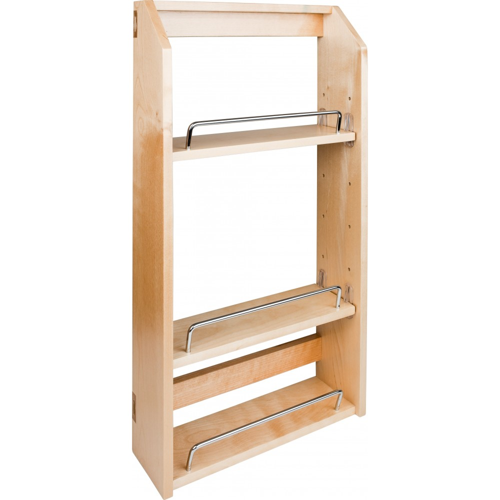 """12-1/2"""" x 4"""" x 24"""" Adjustable Spice Rack for 18"""" Wall Cabinet"""