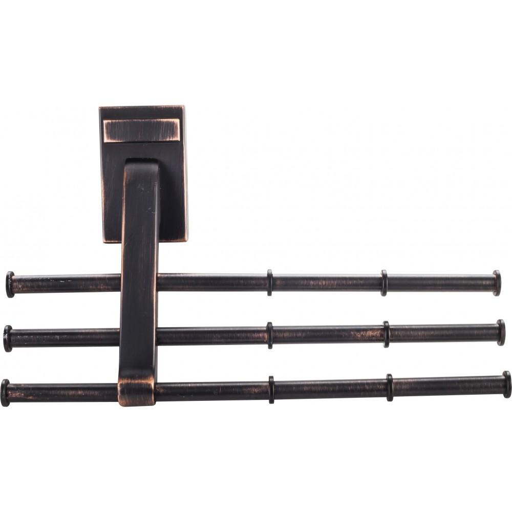 Brushed Oil Rubbed Bronze Screw Mounted Tri-Level Tie Organizer