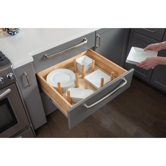 Peg Board Drawer Insert with 12 Pegs