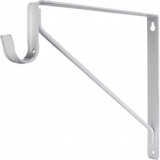 White Shelf & Rod Support Bracket for 1516 Series Closet Rods
