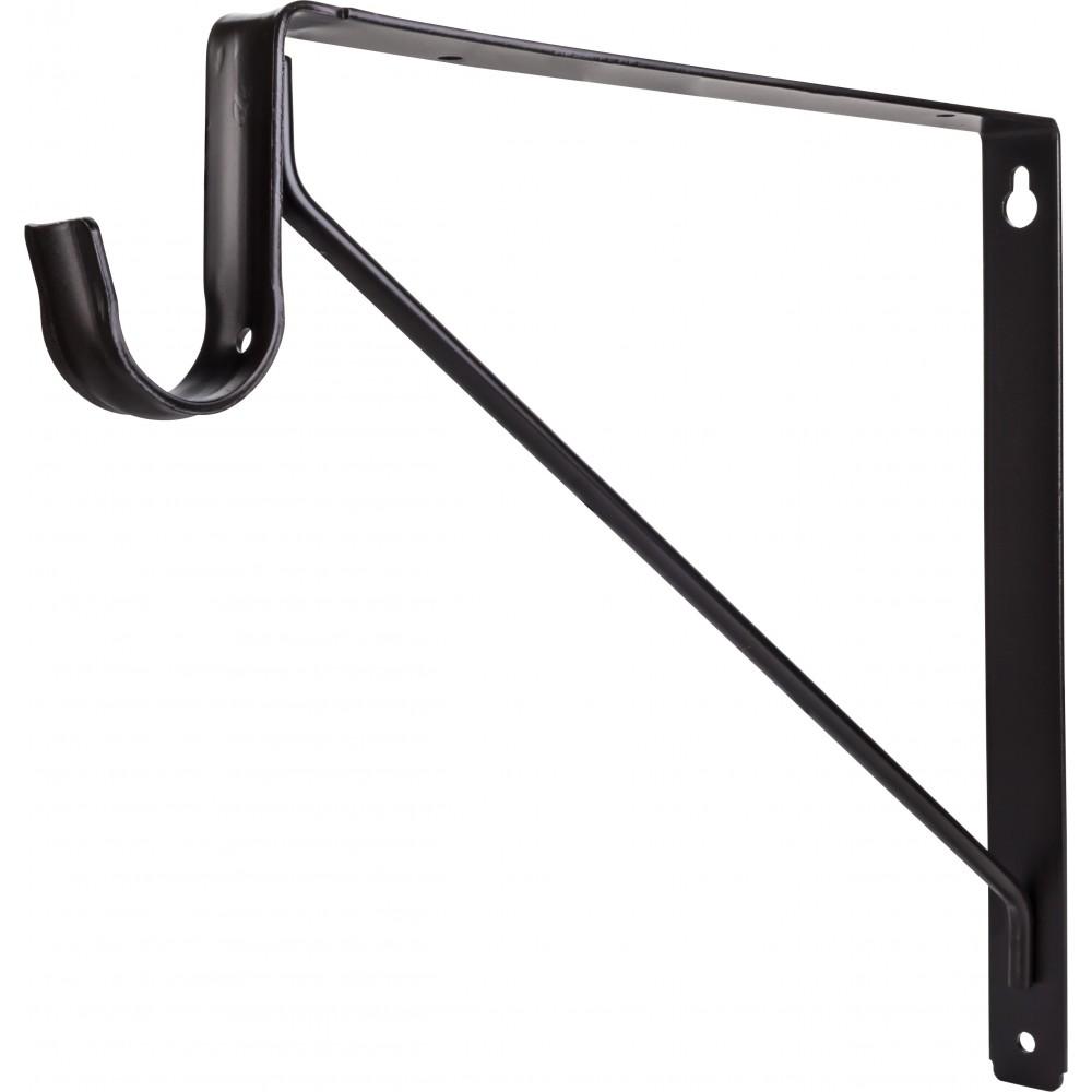 Dark Bronze Shelf & Rod Support Bracket for 1516 Series Closet Rods