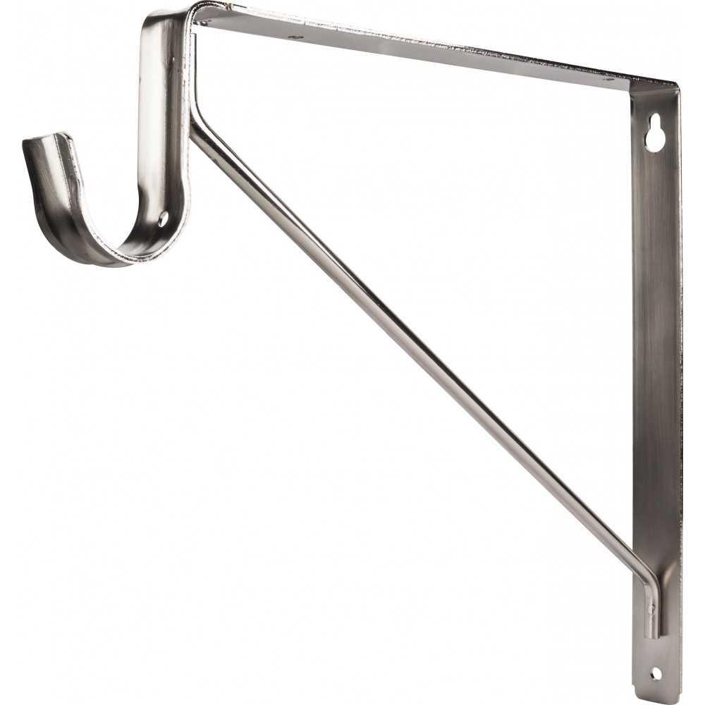 Satin Nickel Shelf & Rod Support Bracket for 1516 Series Closet Rods