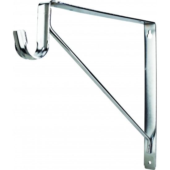 Chrome Shelf & Rod Support Bracket for 1516 Series Closet Rods