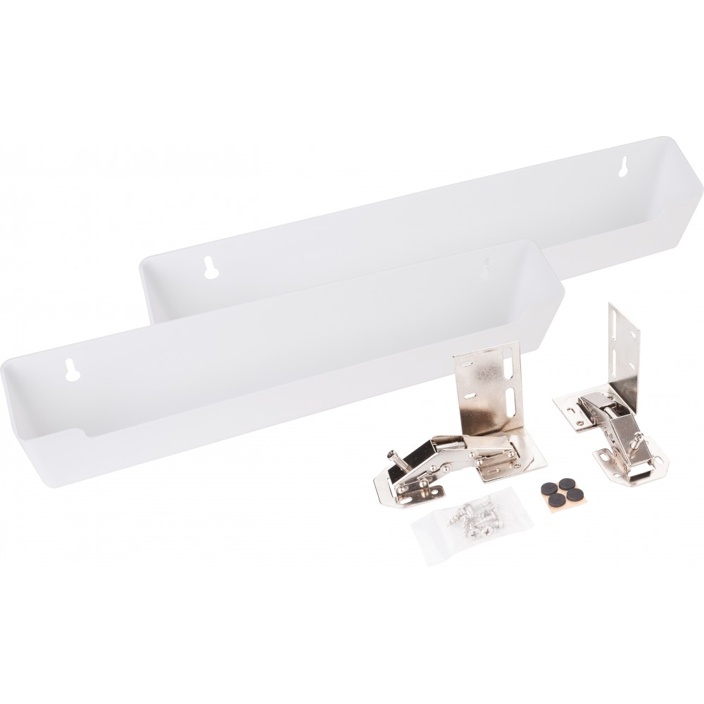 """14-13/16"""" Plastic Tipout 2 Shallow Tray Set"""