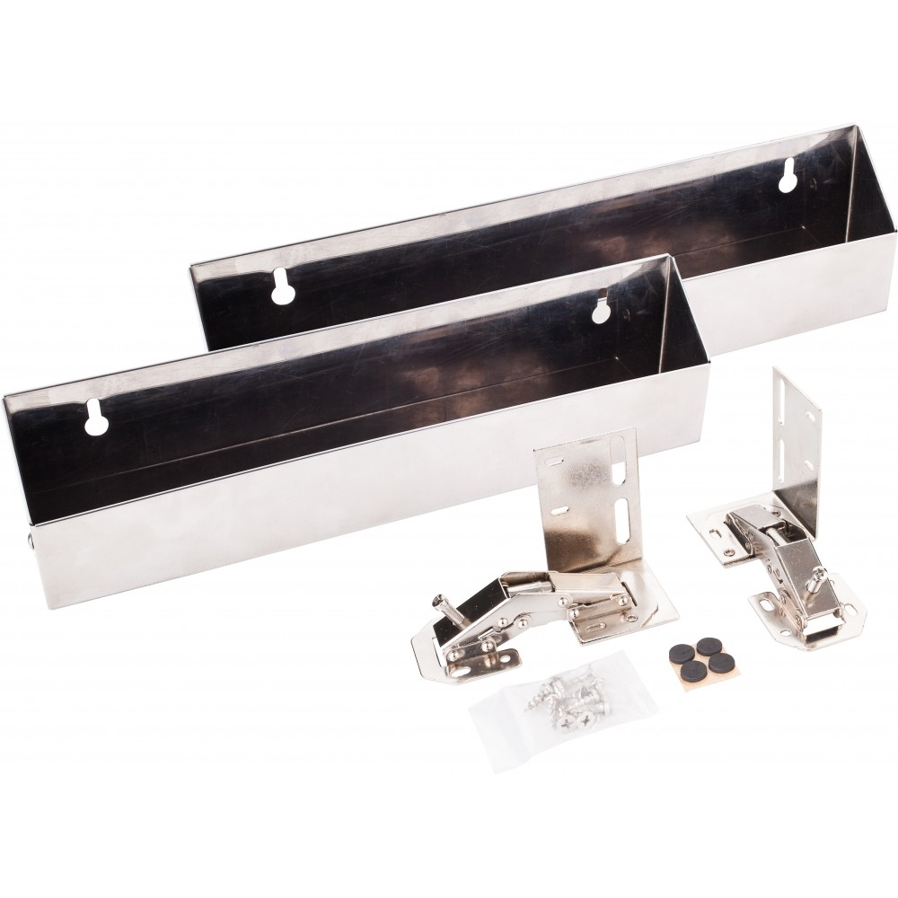 """11-11/16"""" Stainless Steel Tipout 2 Shallow Tray Set"""