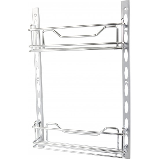 """3"""" Deep Door Mounted Tray System Kit in Polished Chrome"""