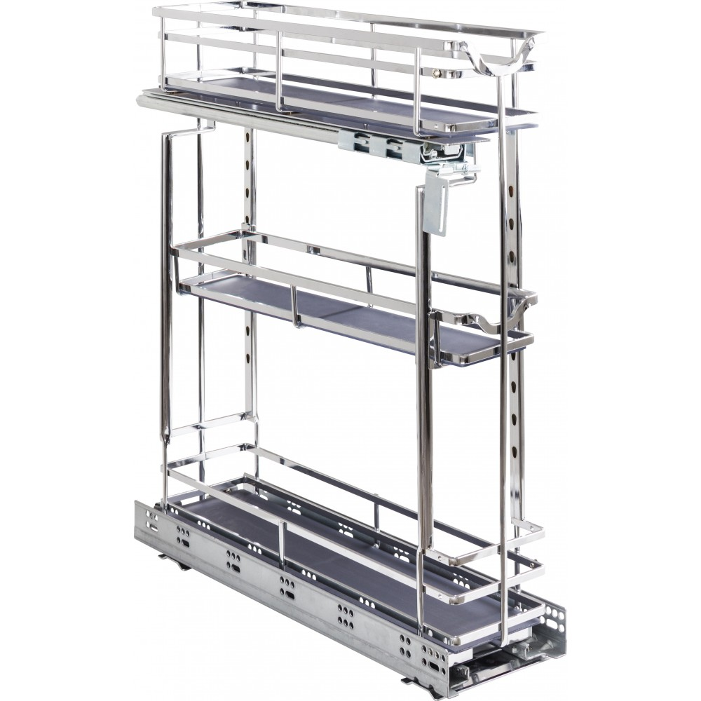 """STORAGE WITH STYLE ® 5"""" Wire Base Pullout Polished Chrome Finish"""