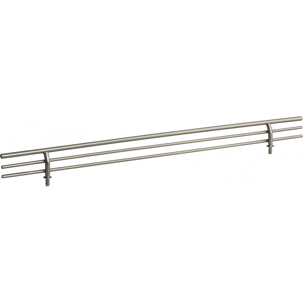 """Satin Nickel 17"""" Shoe Fence for Shelving"""