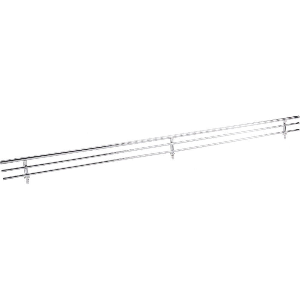 "Chrome 17"" Shoe Fence for Shelving"