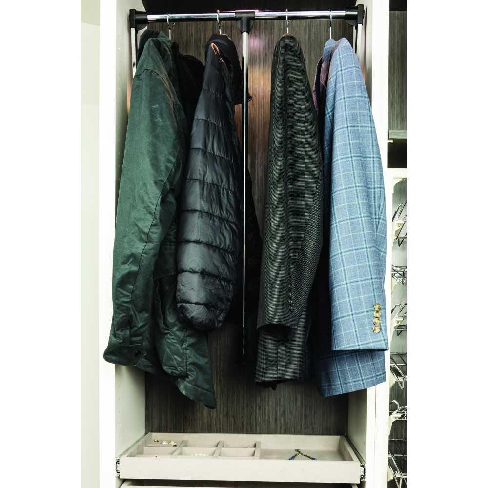 "Black Powder Coat 33"" - 48"" Expanding Wardrobe Lift"