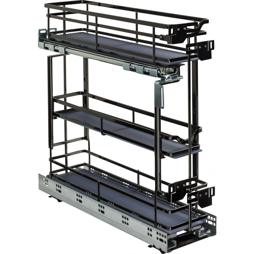 """STORAGE WITH STYLE ® 5"""" Wire Drawer Base Pullout Black Nickel Finish"""
