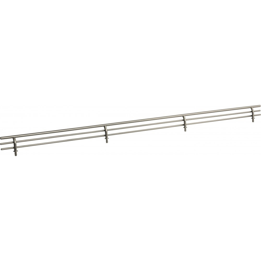 """Satin Nickel 29"""" Shoe Fence for Shelving"""