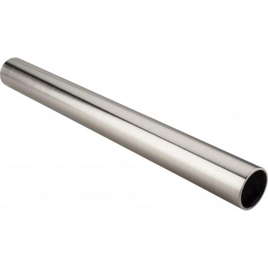 "Satin Nickel 1-5/16"" Diameter  x 8' Round Steel Closet Rod"