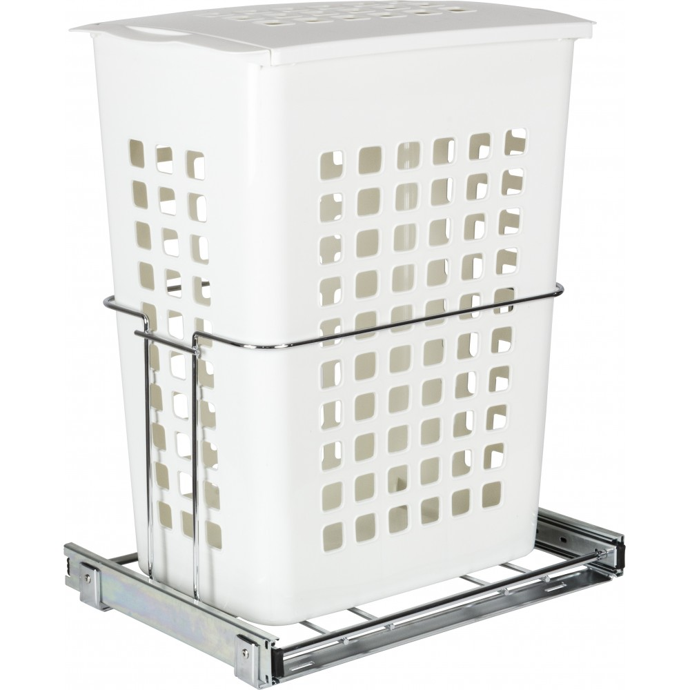 Plastic Pullout Hamper with Lid