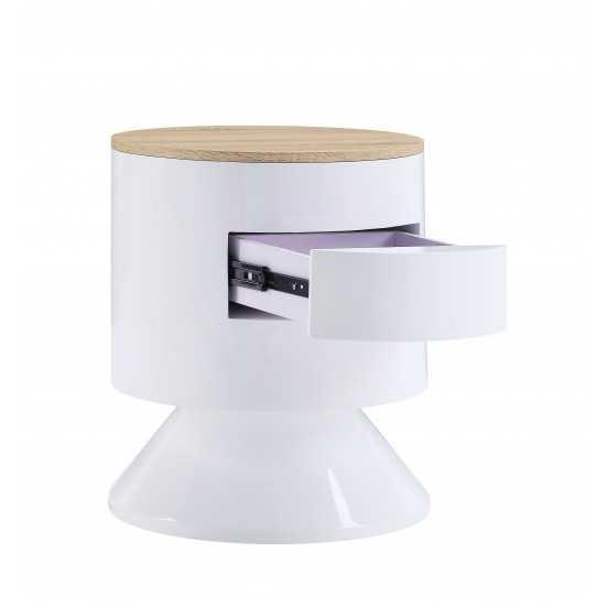 ACME Otith Night Table, White High Gloss